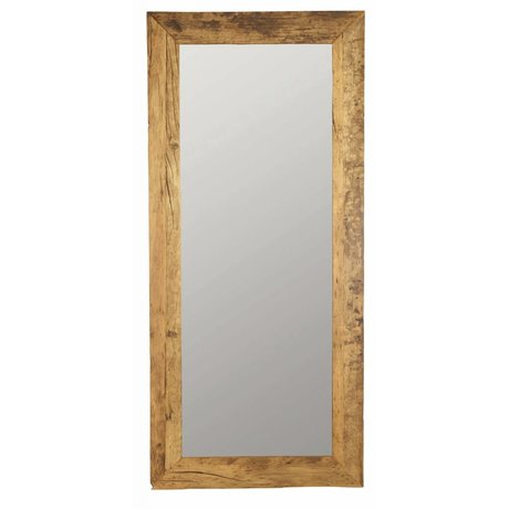 Housedoctor Brun naturel bois recyclé 95x210cm Mirror, Mirror Pure nature