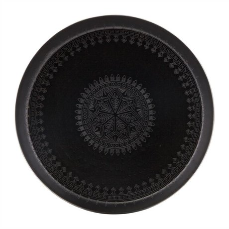 BePureHome Tray Iron Lady black metal Ø55cm