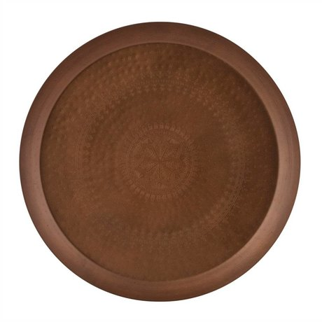 BePureHome Tray Iron Lady copper metal Ø55cm