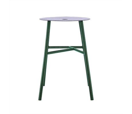 Housedoctor K-steel stool stool green leather 48x35x35cm