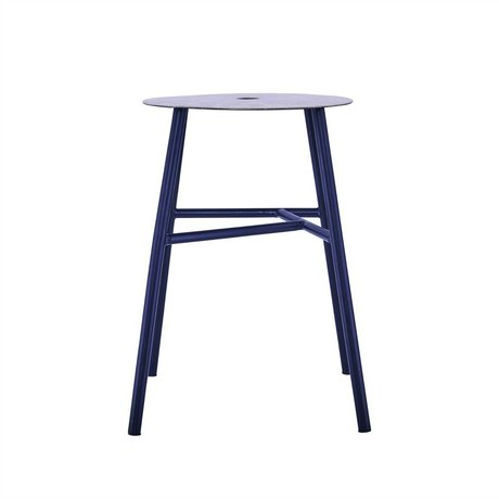 Housedoctor K-steel stool stool black leather 48x35x35cm
