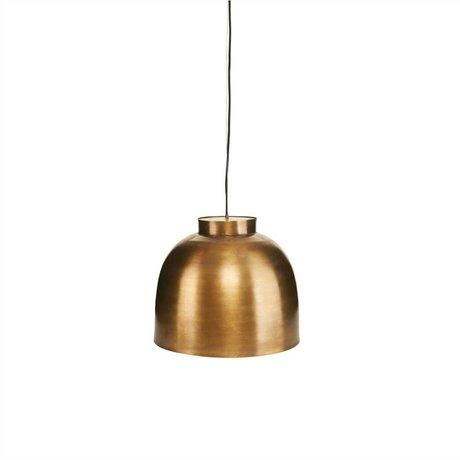Housedoctor Hanglamp BOWL brass goud metaal Ø35cm