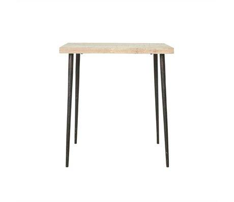 Housedoctor Slated table mango wood metal 76x70x70cm