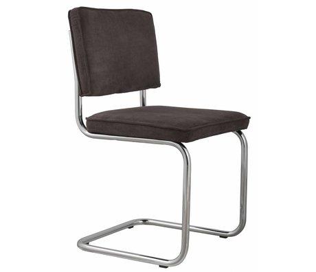 Zuiver Dining chair gray knit 48x48x85cm, RIDGE RIB CHAIR GREY 6A