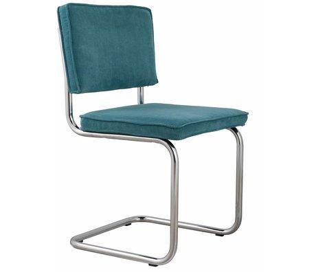 Zuiver Chaise bleu 48x48x85cm tricot, chaise bleue RIDGE RIB 12A