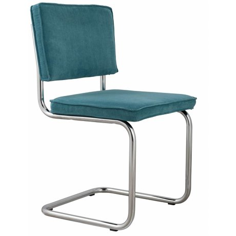 Zuiver Dining chair blue knit 48x48x85cm, CHAIR BLUE RIDGE RIB 12A