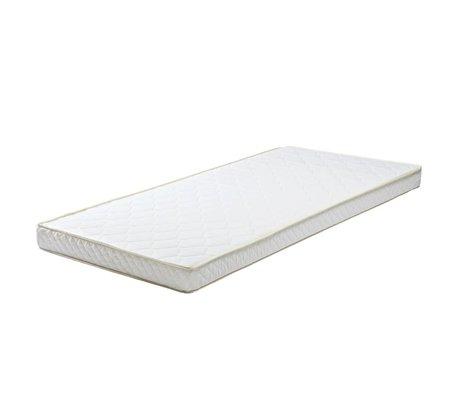 LEF collections Matelas 90x190x12cm textile mousse blanche pour le bac de matelas