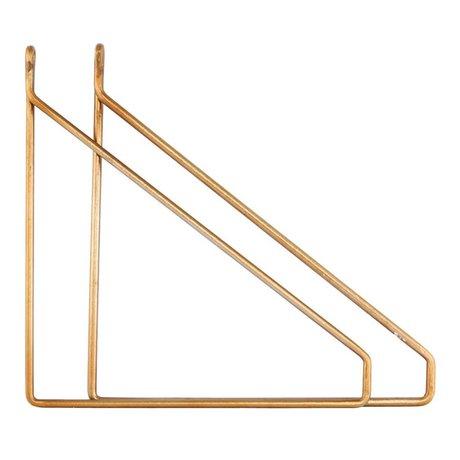 Housedoctor Housedoctor wandhaken set brass metaal 25.5x26cm