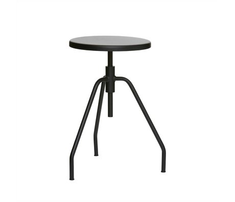 Housedoctor SCARPA stool black metal Ø32x50cm