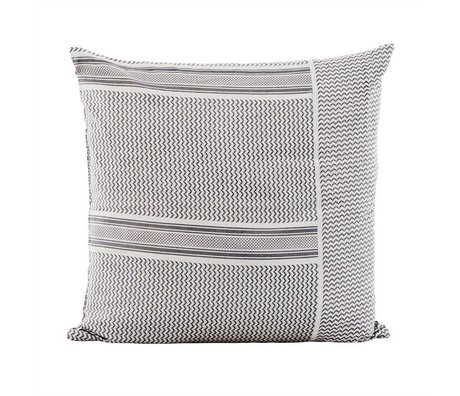 Housedoctor Partisan gray cotton cushion cover 50x50cm