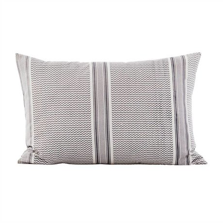 Housedoctor Partisan gray cotton cushion cover 40x60cm