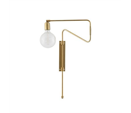 Housedoctor Wall lamp Swing brass metal 35cm
