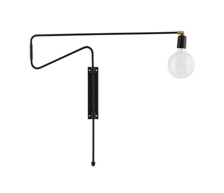 Housedoctor Wall lamp Swing black brass metal 70cm