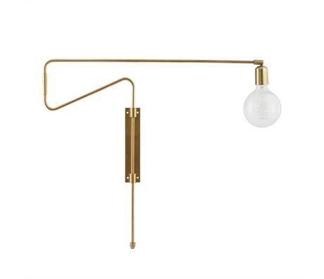 Housedoctor Wall lamp Swing brass metal 70cm