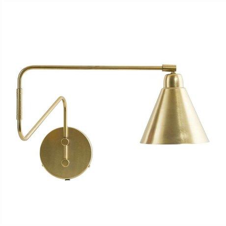 Housedoctor Wandlamp Game goud metaal ø15x13x70cm