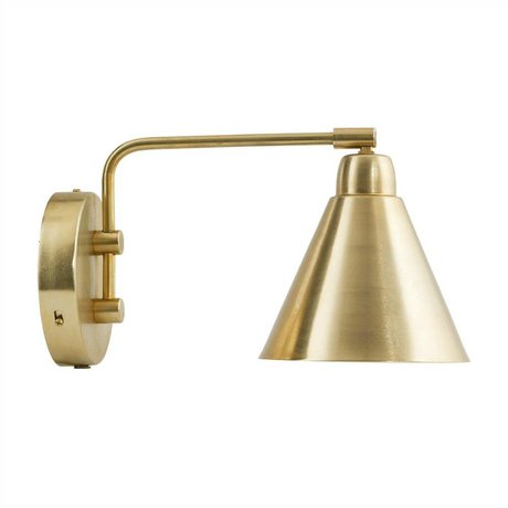 Housedoctor Wall light Game gold metal Ø20cm