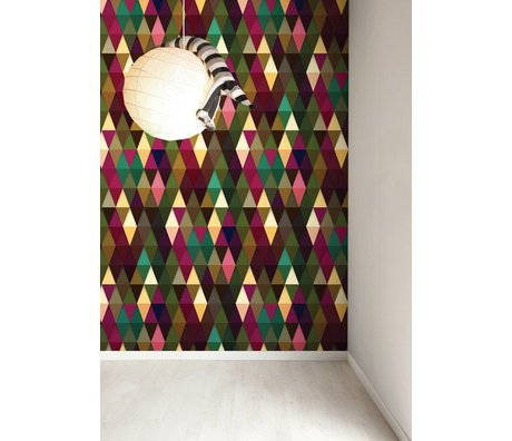 KEK Amsterdam Behang papier multicolour 146,1 x 280 cm, Wallpaper 063
