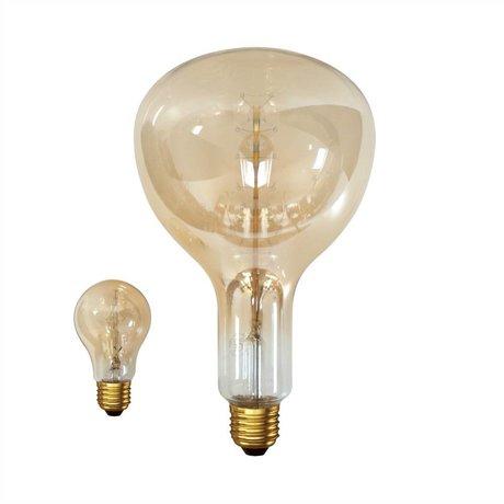 HK-living Glühlampe Glühbirne mit Goldeffekt 18x18x36cm
