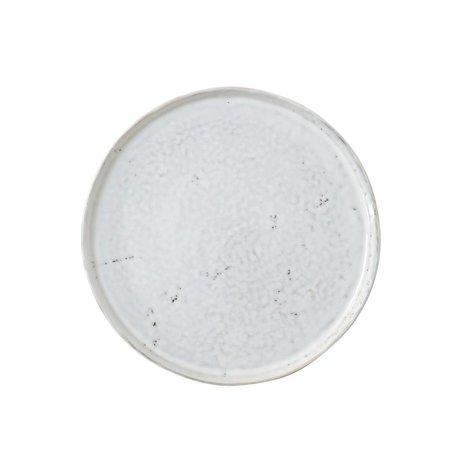 HK-living Frühstücksteller weißer Keramik 22x22x1,8cm