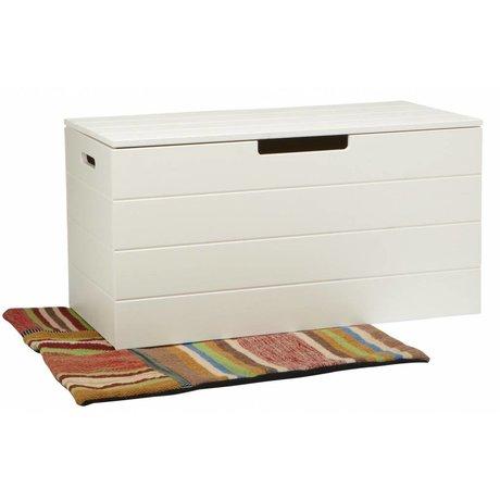 LEF collections Aufbewahrungsboxen 'Shack' weiße Kiefer 42X80X42cm