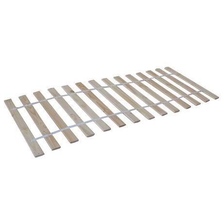 LEF collections Slatted wood natural 90x200cm
