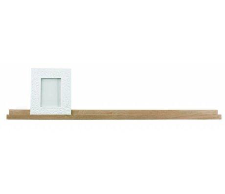 LEF collections étagère cadre brun naturel 120x5x10cm chêne non traité 'Studio'