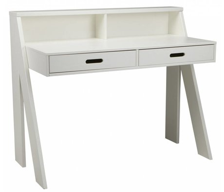 LEF collections Bureau 'Max' pin blanc 112x55x93cm