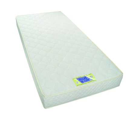 LEF collections Mattress 90x200x18cm white fabrics