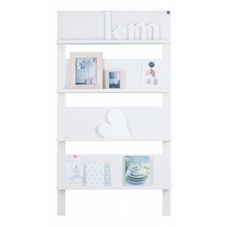 LEF collections Stretch '101 'on the wall, white brushed pine 178X80X11cm