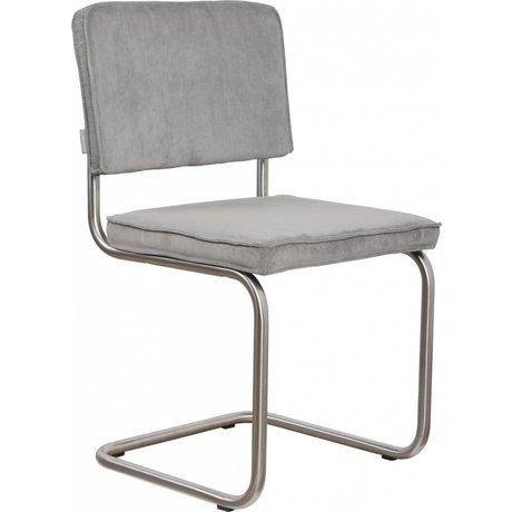Zuiver Esszimmerstuhl gebürstet Rohrrahmen cool grey stricken 48x48x85cm, Stuhl Ridge cool grey gebürstet Rippe 32A