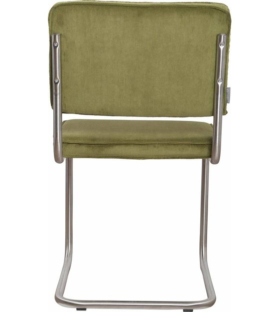 Groovy Zuiver Dining Chair Brushed Tube Frame Green Knit 48X48X85Cm Chair Ridge Brushed Rib Green 25A Theyellowbook Wood Chair Design Ideas Theyellowbookinfo
