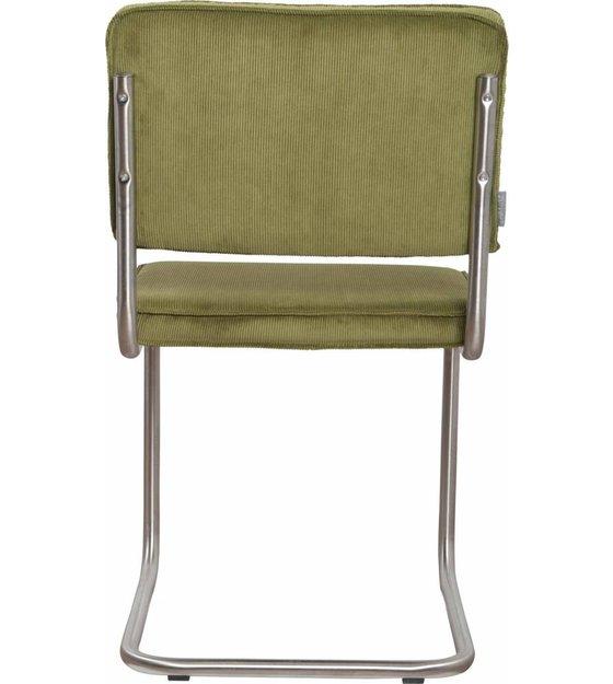 Design Eetkamerstoelen Zuiver.Zuiver Eetkamerstoel Geborsteld Buis Frame Groen Ribstof 48x48x85cm Chair Ridge Brushed Rib Green 25a