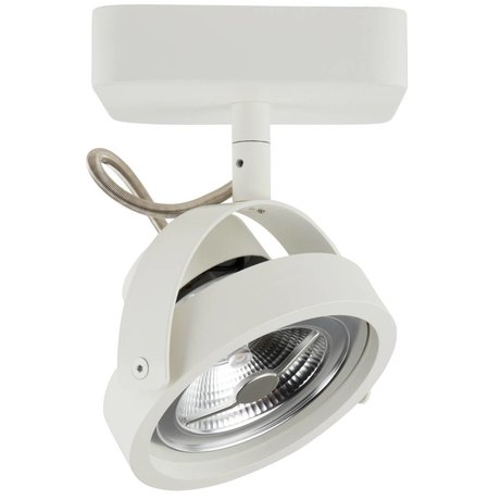 Zuiver Wandlamp DICE-1 LED staal wit 12x12cm
