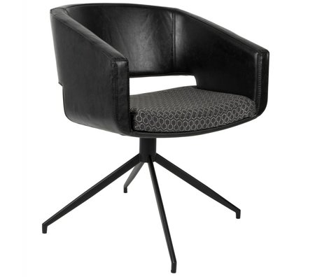 Zuiver Beau chair leatherette black polyester 61x57x77cm