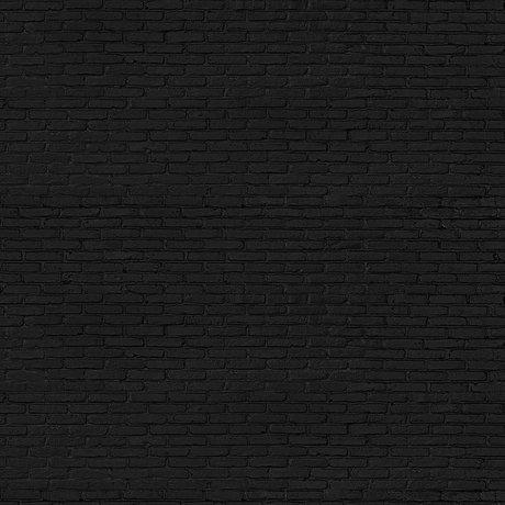 NLXL-Piet Hein Eek Tapete Schwarz Backsteinpapier Schwarz 900 x 48,7 cm