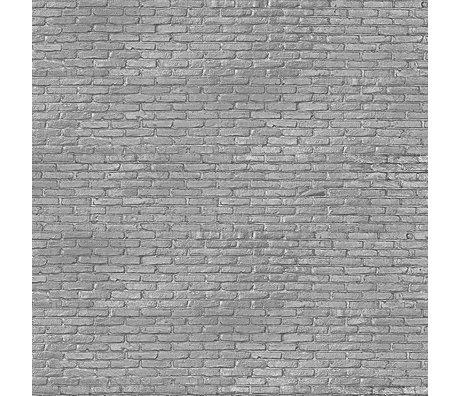 NLXL-Piet Hein Eek Papier peint Brique gris argenté papier gris 900 x 48,7 cm