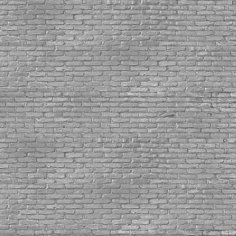 NLXL-Piet Hein Eek Fond d'écran gris argenté brique papier gris 900 x 48,7 cm