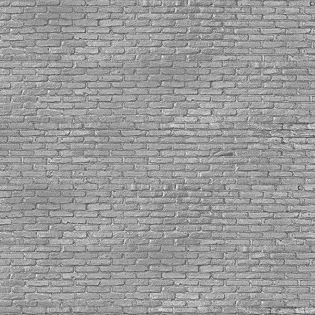 NLXL-Piet Hein Eek Tapete Silbergrau Ziegelpapiergrau 900 x 48,7 cm