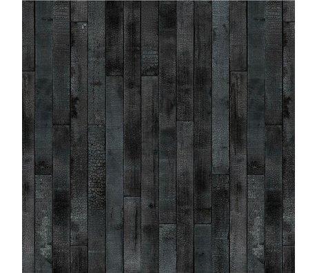 NLXL-Piet Hein Eek Wallpaper Maarten Baas Burntwood paper black 900x48,7cm