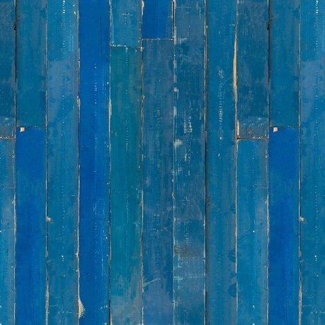 NLXL-Piet Hein Eek Papier peint bleu papier Scrapwood bleu 900x48,7cm