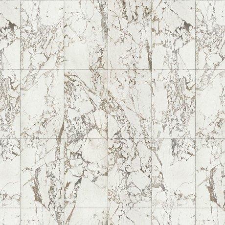 NLXL-Piet Hein Eek Papier peint Marbre papier blanc blanc gris 900x48,7cm
