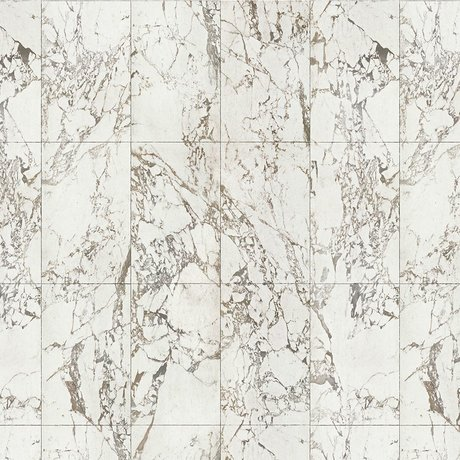 NLXL-Piet Hein Eek Tapete Marmor Weißes Papier weiß grau 900x48,7 cm