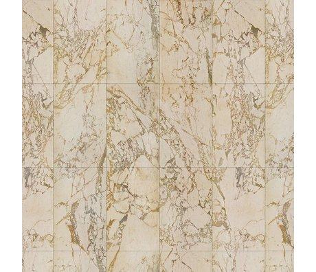 NLXL-Piet Hein Eek Tapete Marmor Beige Papiercreme 1000x48,7cm