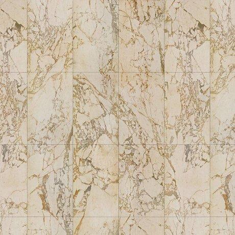 NLXL-Piet Hein Eek Papier peint Marbre Beige papier crème 1000x48,7cm