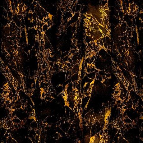 NLXL-Piet Hein Eek Tapete Marmor Schwarz Metallic Papier 70 cm schwarz 900x48,7