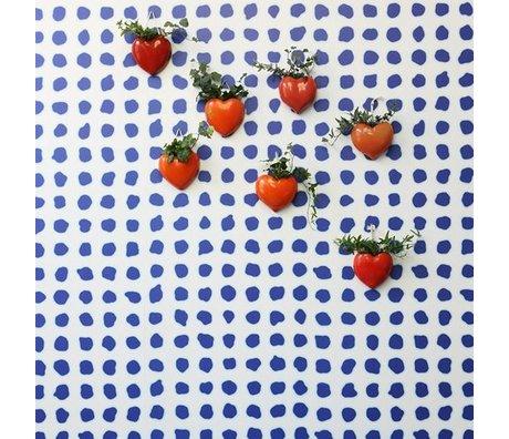 NLXL-Paola Navone Papier peint bleu à pois bleu 1000x48.7cm (4.9 m2)