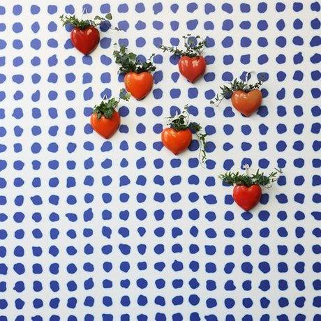 NLXL-Paola Navone Tapete Blau Punkte Blau 1000x48,7 cm (4,9 m2)