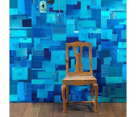 NLXL-Paola Navone Papier peint Shibori bleu 1000x 48,7 cm (4,9 m2)