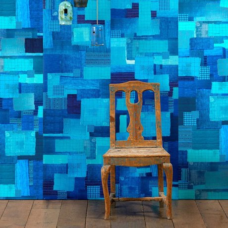 NLXL-Paola Navone Tapete Shibori blau 1000x 48,7 cm (4,9 m2)