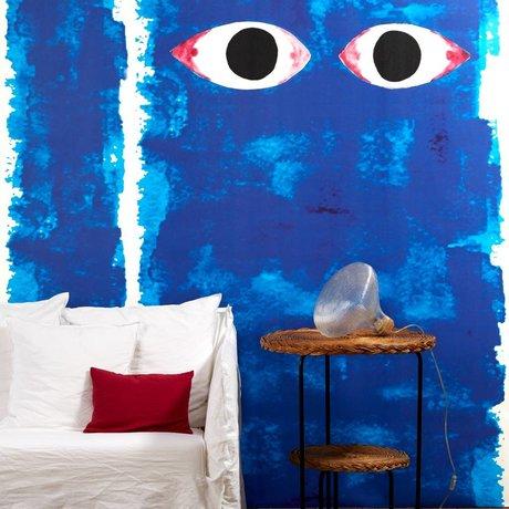 NLXL-Paola Navone Papier peint yeux bleus bleu 330x146.1cm (4.8 m2)